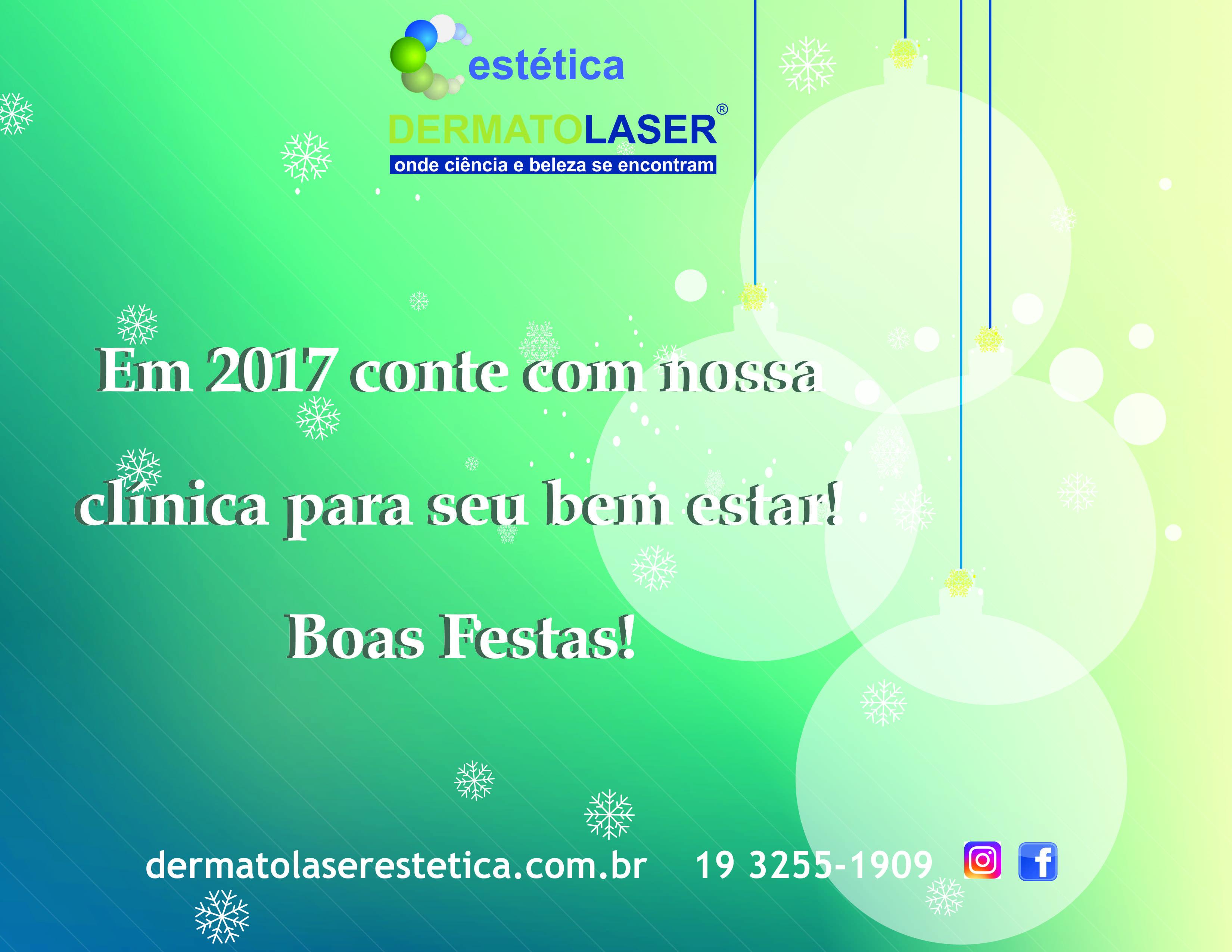 CARTAO DE FIM DE ANO - dermatolaser